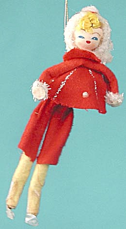 Vintage Pixie Christmas Ornament
