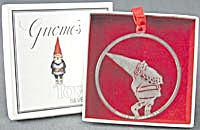 Vintage Silverplate Gnome Christmas Ornament (Image1)