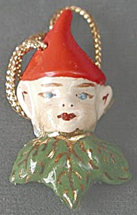 Vintage Porcelain Pixie Ornament (Image1)