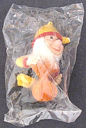 Vintage Flocked Plastic Dwarf Elf Christmas Ornament (Image1)