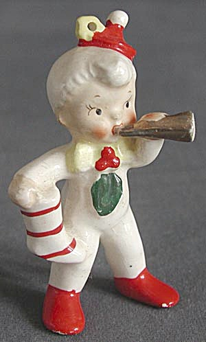 Vintage Boy Christmas Figurine
