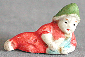 Vintage Tiny Laying Down Elf
