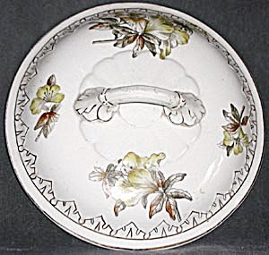 Antique China Handled Lid (Image1)