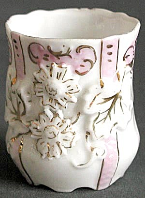 Vintage Embossed Pink & White Toothpick Holder (Image1)