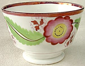 Vintage Luster Bowl With Flower