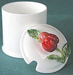 Vintage Staffordshire Strawberry Jam Jar (Image1)