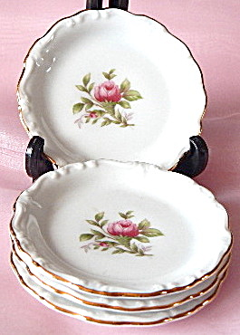 Johann Haviland Moss Rose Butter Pats Set Of 4