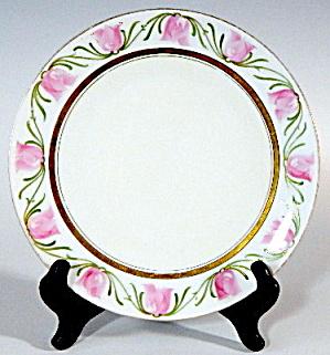 Stylized Pink Tulip Plate