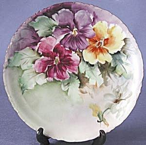 Rosenthal Hand Painted Pansy Plate