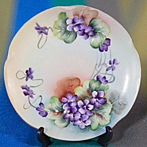 Vintage Violet Hand Painted Plate
