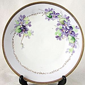Favorite Bavaria Hand Painted & Signed Violet Plate (Image1)