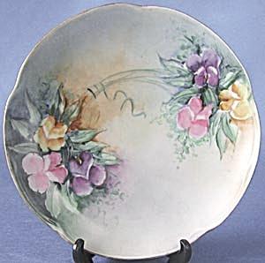 Vintage Hand Painted Sweet Pea Plate (Image1)