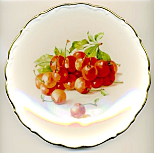 Schumann Arzberg Germany Cherries Hand Painted Plate