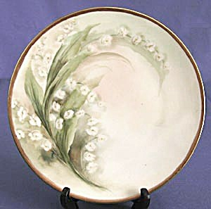 Vintage Silesia Hand Painted Lily Of The Valley Plate