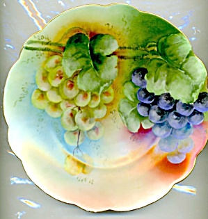 Vintage Hand Painted & Signed Grape Plate