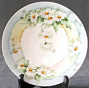 Hand Painted Limoges Daisy Plate