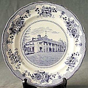 Vintage Buffalo Pottery Mt. Vernon Plate (Image1)
