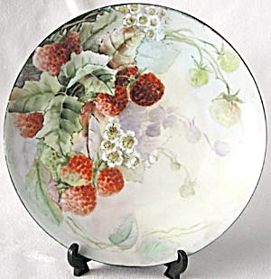 Vintage Wild Strawberry Hand Painted Plate (Image1)