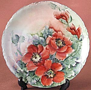 Vintage Versailles Hand Painted Poppy Plate (Image1)