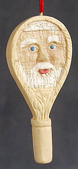 Santa Tennis  Racket Christmas Ornament (Image1)