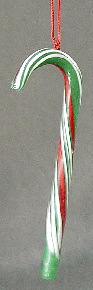 Glass Candy Cane Christmas Ornament (Image1)