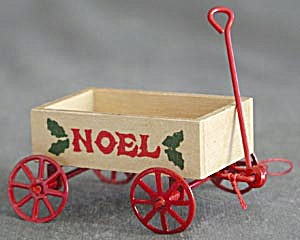 Wooden Wagons Christmas Ornaments