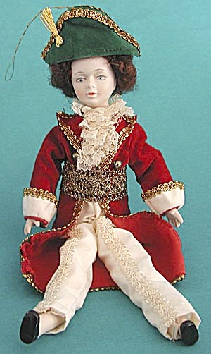 Vintage Porcelain French Soldier Christmas Ornament (Image1)