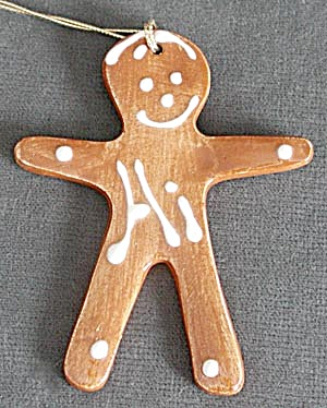 Vintage Gingerbread Boy Christmas Ornament (Image1)