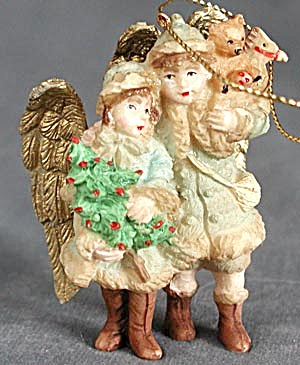 Victorian Angel Children Christmas Ornament (Image1)