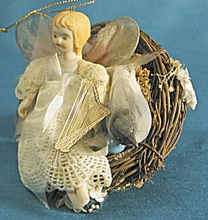 Fairy In Bird's Nest Christmas Ornament