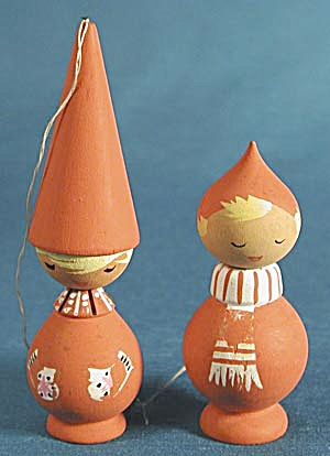 Vintage Wooden Children From Sweden