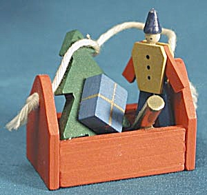 Wooden Toy Chest Christmas Ornament (Image1)