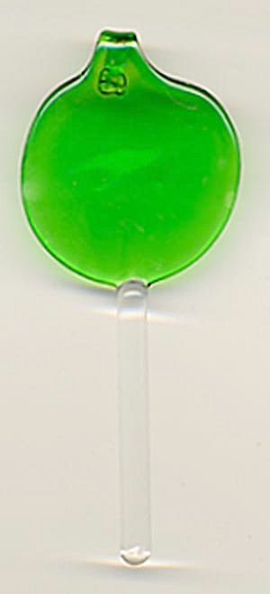 Glass Green Lollypop Christmas Ornament