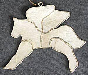 Vintage Capiz Shell Pegasus Christmas Ornament (Image1)