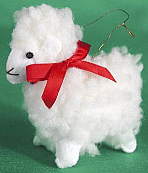Little Wooly Lamb Christmas Ornament (Image1)