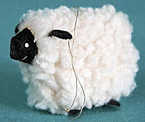 Black Face Wooly Lamb Christmas Ornament (Image1)