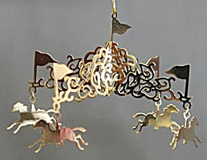 Brass Carousel Christmas Ornament (Image1)