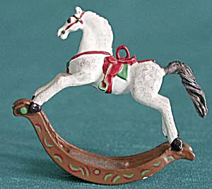 Pewter Rocking Horse Christmas Ornament (Image1)