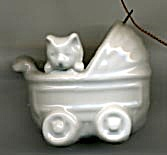 White China Cat in Buggy Christmas Ornament (Image1)