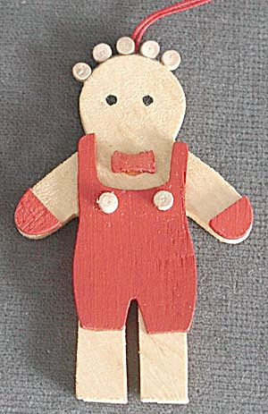 Wooden Boy Christmas Ornament