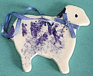 China Blue & White Lamb & Goose Christmas Ornaments (Image1)