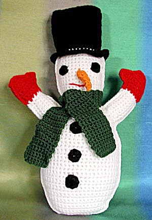Vintage Crocheted Snowman