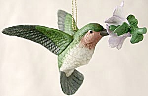 Bisque Hummingbird Christmas Ornament (Image1)
