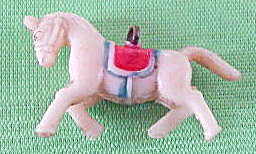 Vintage Celluloid Circus Horse Charm