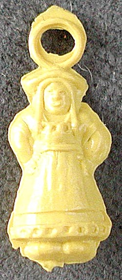 Vintage Celluloid Dutch Girl Charm (Image1)