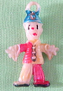 Vintage Celluloid Clown Charm
