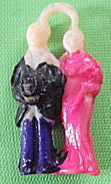 Vintage Celluloid Couple Charm