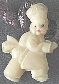 Vintage Celluloid Chef Charm