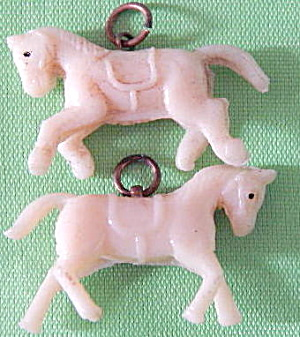 Vintage Celluloid Horse Charms