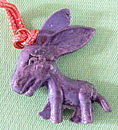 Vintage Celluloid Big Ear Donkey Charm